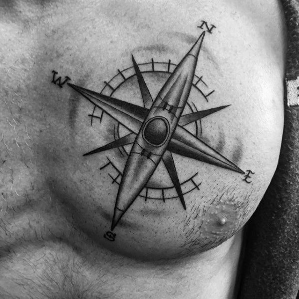 40 Canoe Tattoo Designs For Men Kayak Ink Ideas In 2020 Tattoo Designs Men Compass Tattoo Compass Tattoo Men