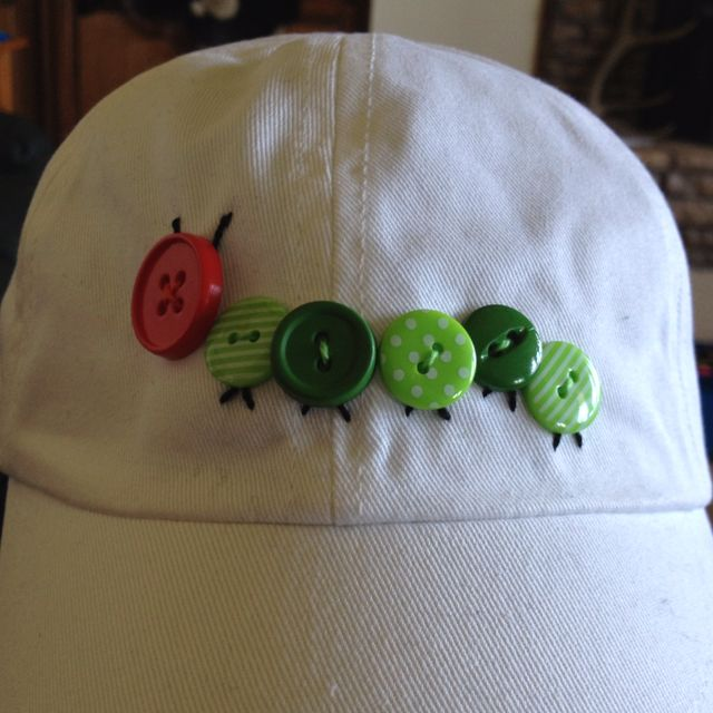 Hungry Little Caterpillar Hat! but maybe sew it on the front of a cute shirt or something