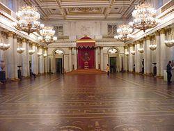 Георгиевский (Большой тронный) зал Зимнего дворца — Википедия