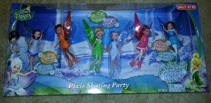 Disney Fairies Exclusive Secret of the Wings Pixie Skating Party by Jakks. $54.99. Includes 6 Fairies. From the Disney Movie: Secret of the Wings. Includes 30 Pieces!. When Tinker Bell sneaks over to the forbidden Winter Woods, her wings begin to magically sparkle!  It's only after Tink meets Periwinkle, a beautiful frost fairy, that she uncovers the truth behind the glow and discovers the most incredible 'Secret of the Wings'.