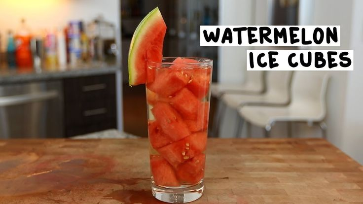 WATERMELON ICE CUBES 1 oz. (30ml) Watermelon Vodka 4 oz. (120ml) White Wine Watermelon Chunks PREPARATION 1. Slice a small watermelon and cut into cubes. Place on a dish and into the freezer to harden. 2. Once frozen, place frozen watermelon chunks into a glass and pour in watermelon vodka and white wine. 3. Garnish with a watermelon chunk. DRINK RESPONSIBLY!