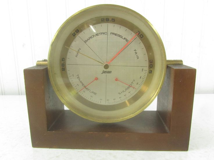 Mid Century Modern Weather Station, Jason, Thermometer, Barometer, Rain, Humidity by KarensChicNShabby on Etsy