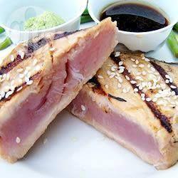 Denny Chef Blog: Tonno scottato all'orientale con salsa di wasabi e coriandolo
