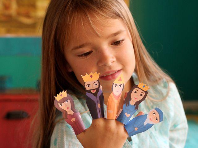 Purim Finger Puppets