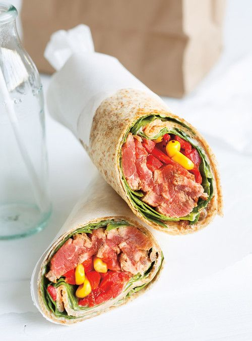 Roasted Bell Pepper and Beef Wrap Recipes | Ricardo