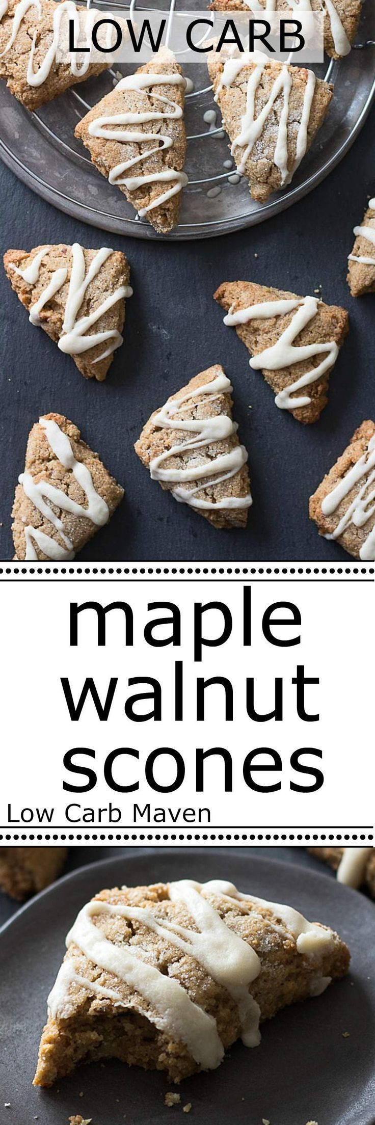 ... toasted walnuts are the stars in these low carb Maple Walnut Scones