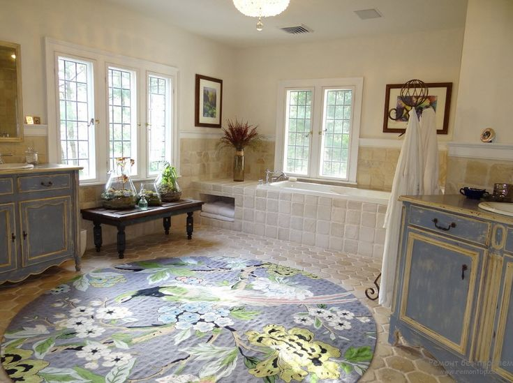 beautiful floral round large bathroom rug - Bathroom Carpet