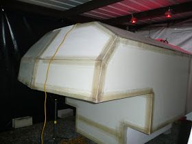 One Guy's Slide-In Truck Camper Project: Some Cooler Weather Fiberglassing - its November