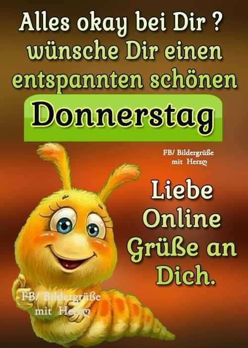 Donnerstag Greetings Good Morning Quotes Good Morning Wishes
