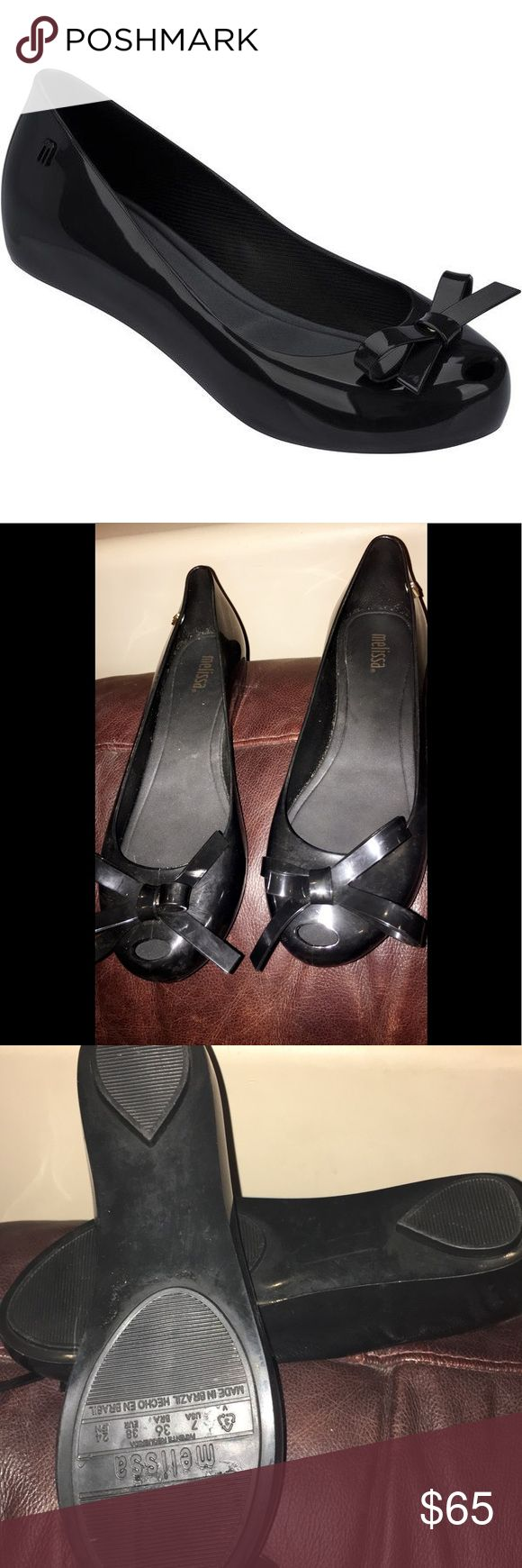 MELISSA Melissa Ultragirl Bow Ad Black $93.20 Description •  Brand: Melissa •  Color: Black •  Style: Ballerinas •  Composition: Made with PVC 100% recyclable •  Origin: Made in Brazil ECO-FRIENDLY  VEGAN-FRIENDLY Melissa Shoes Flats & Loafers