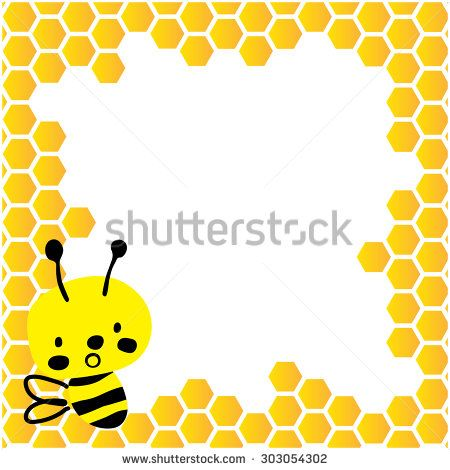 Cute bee vector with honeycombs and space in the background for any kind of text, saying or other graphic.