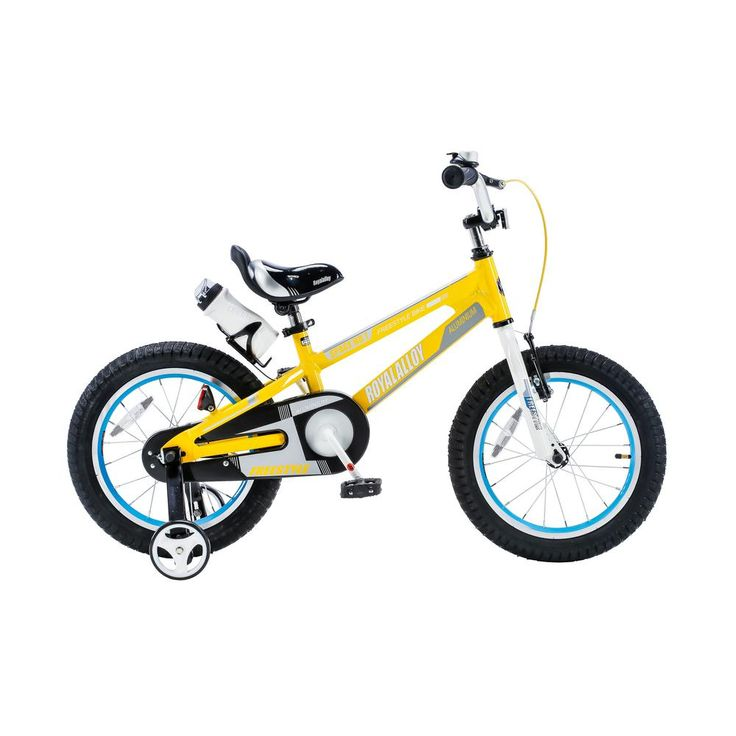 Space No. 1 Kid's Bike, Boy's Bikes and Girl's Bikes, lightweight Aluminum, with 18 in. Training Wheels in Yellow, Yellows/Golds