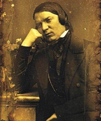 Daguerreotype photo of Robert Schumann (1810-1856), German composer of 4 of the most beautiful, lyric, dramatic and moving symphonies in the repertoire.