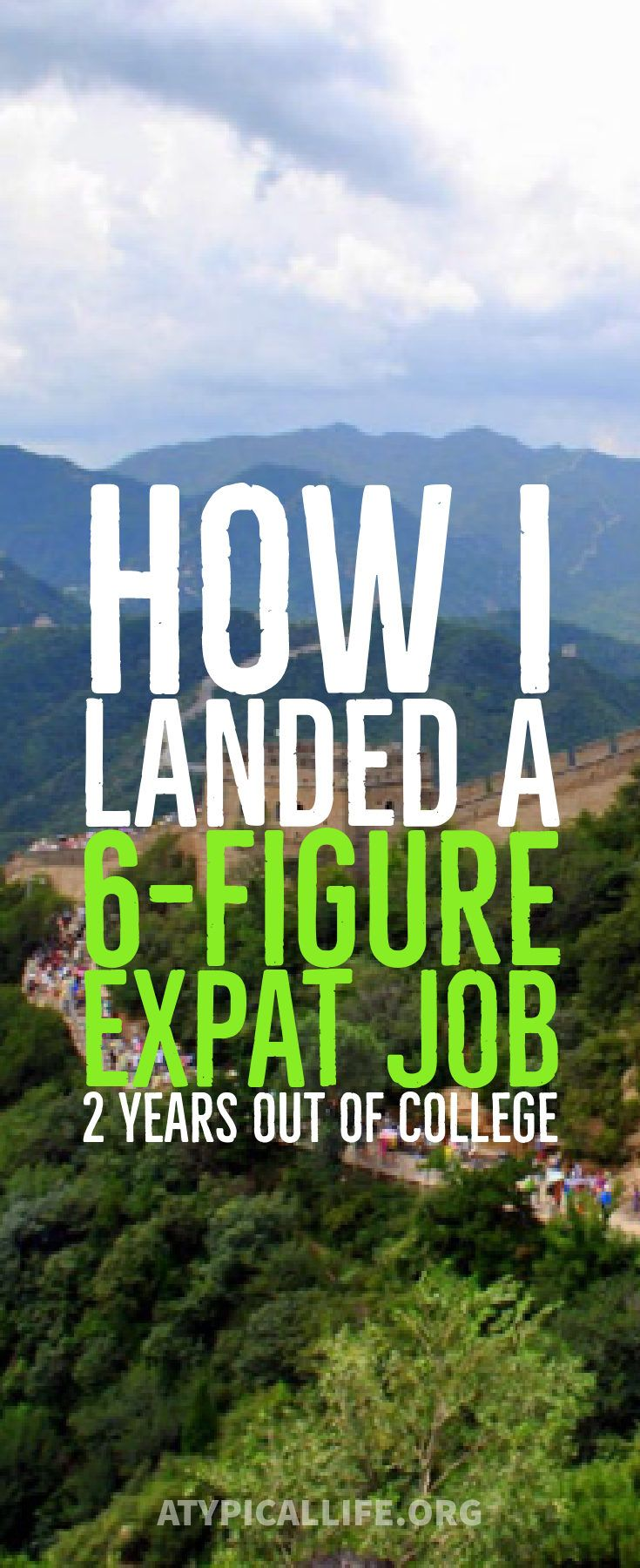How I landed a 6-figure expat job 2 years out of college. expat assignment | Expat package | earn more | travel more | expat life
