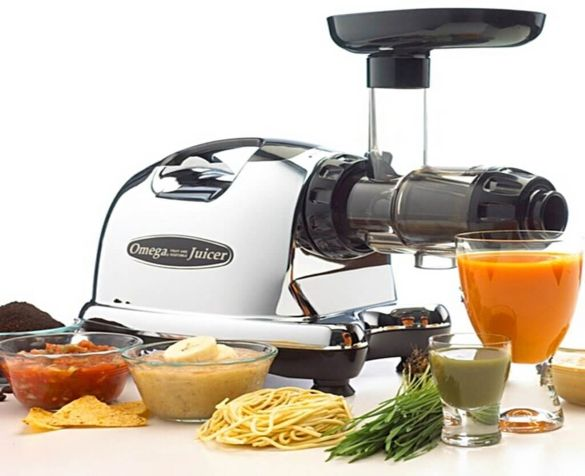 Best Juicer review no. 2. Omega Nutrition Center Juicer J8006. The chrome and black design suits any kitchen. Your J8006 is likely to have pride of place on your kitchen worktop counter. This is also one of the quietest machines around.