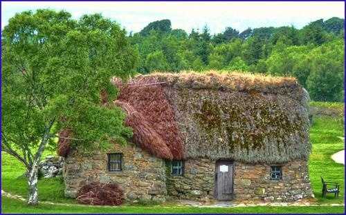 Leanach Cottage, Culloden Moor, Scotland Said to be haunted by ghosts from clan wars in the 18th century.