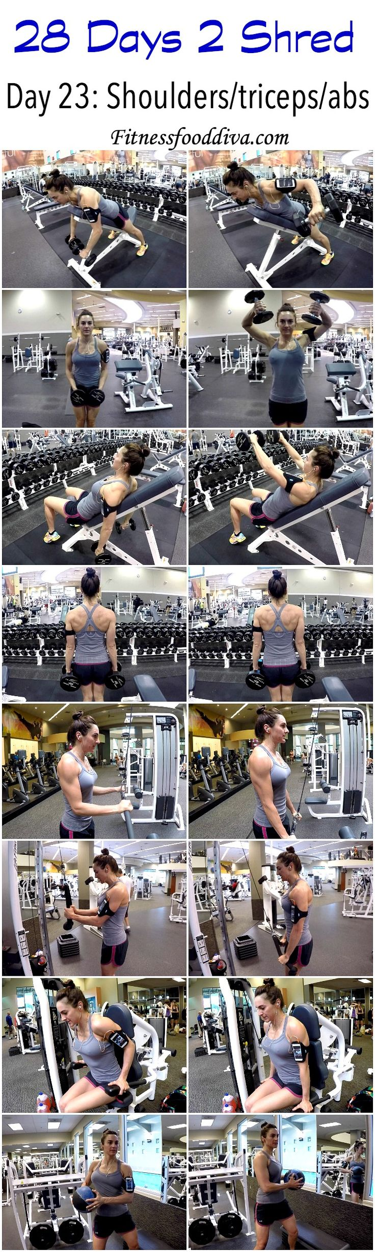 Day 23: shoulders/triceps/abs workout/video