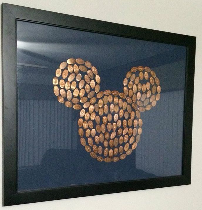 Cool way to present your Disney World pressed pennies.