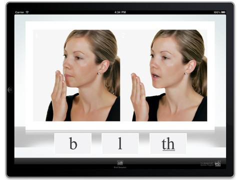 This app was created for individuals with childhood apraxia of speech, phonological disorders, Down syndrome, autism, cerebral palsy, and other disorders and syndromes that impair speech production.