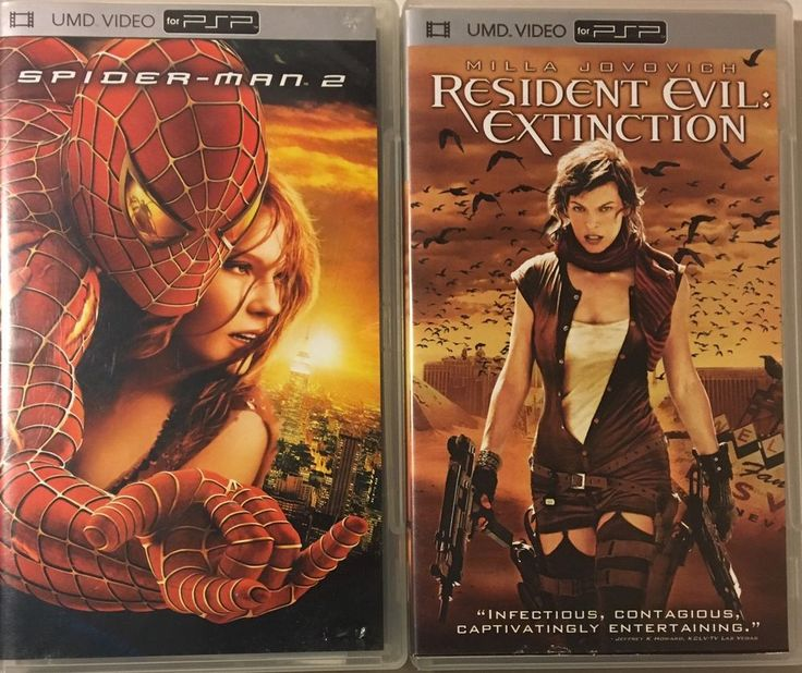 2 Lot Spider-Man 2 Resident Evil: Extinction (UMD, 2008) USED PSP VIDEO PS Movie