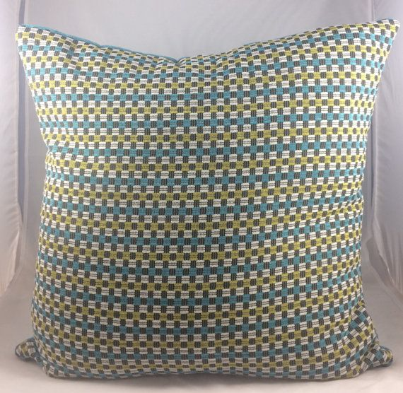 Blue and Green Large Cushion Cover. Fits a 25 x 25