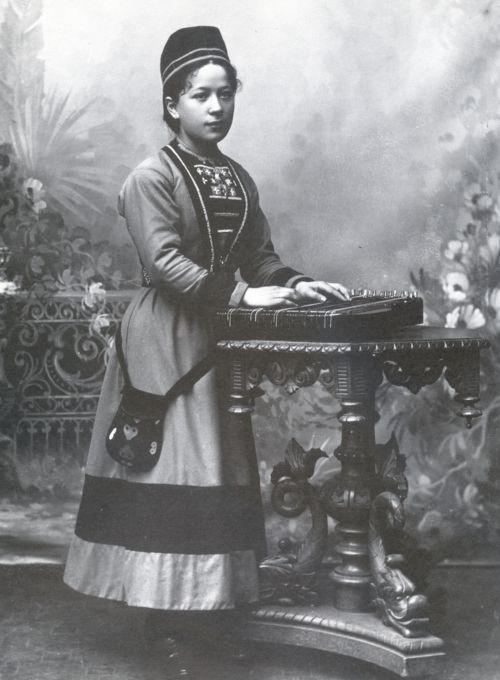 Famed Sami singer Lisa Thomasson, Sweden, ca. 1899.