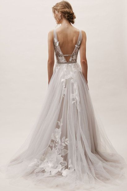 BHLDN's Willowby by Watters Hearst Gown in Silver