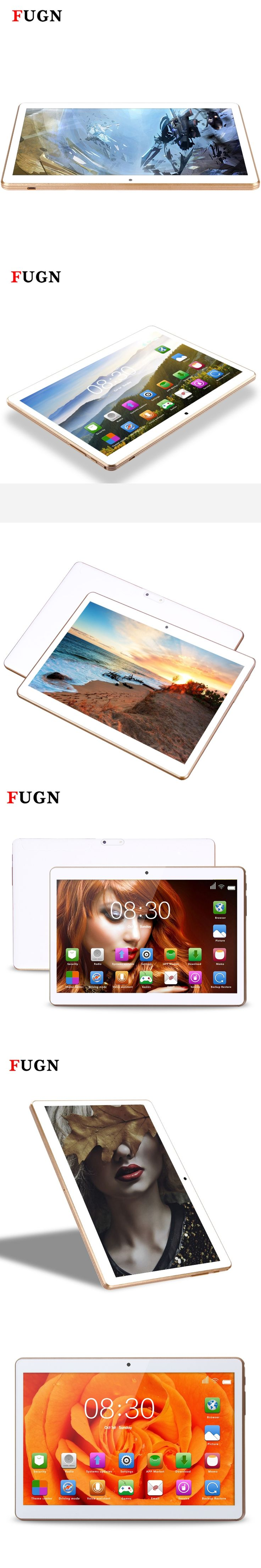 2017 FUGN Tablet 10 inch Original 3G SmartPhone Tablet Wifi 6.0 Android Octa Core pc Tablet GPS 4G+64G with Keyboard Pen 8 9.7''