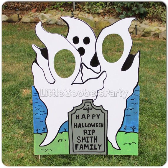 Halloween Photo Booth Prop . Ghosts by LittleGoobersParty on Etsy