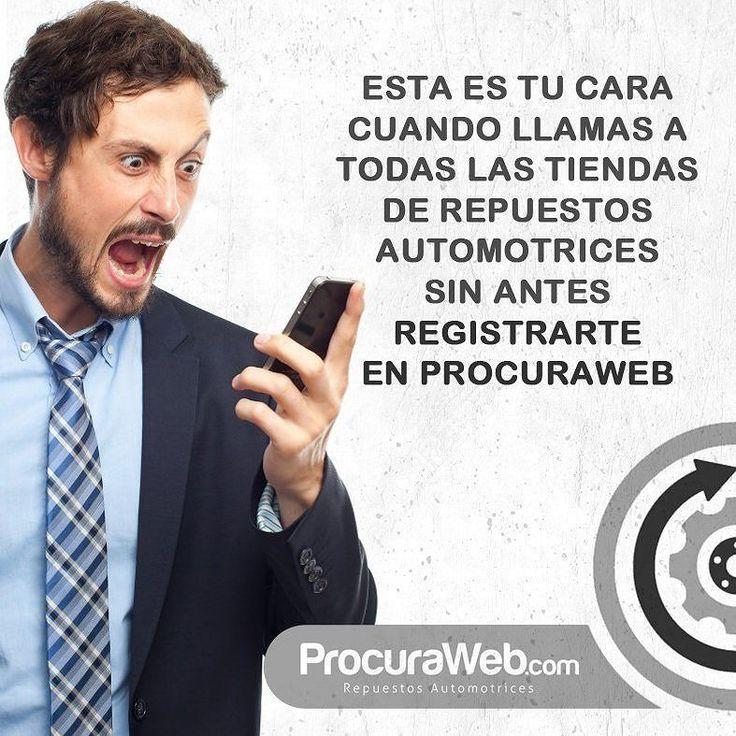 Para evitar estos malos ratos ingresa en www.procuraweb.com -link en bio- regístrate y realiza las solicitudes de los repuestos que desees.  En la parte inferior derecha de tu pantalla se encuentra nuestro #ChatDeSoporte y si ameritas atención inmediata nuestro 04246781217 está esperando tu llamada. Aquí estamos!   #ProcuraWeb #Contacto #Teléfono #Solicitud #Registro #Atención #Calidad #Servicio #Seguridad #Venezuela