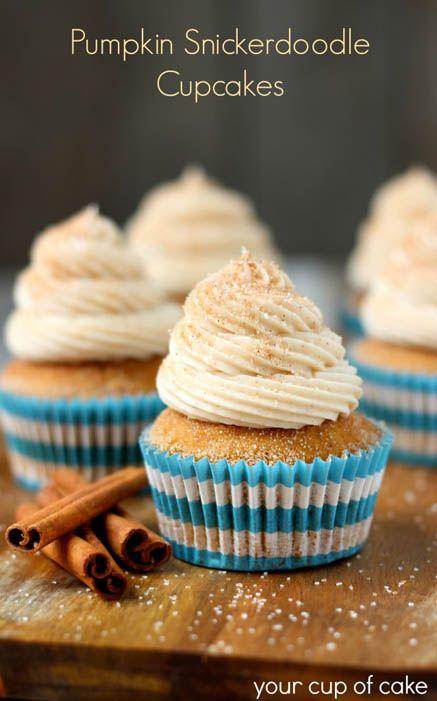 Kürbis Snickerdoodle Cupcakes von Ihrem Cup of Cake