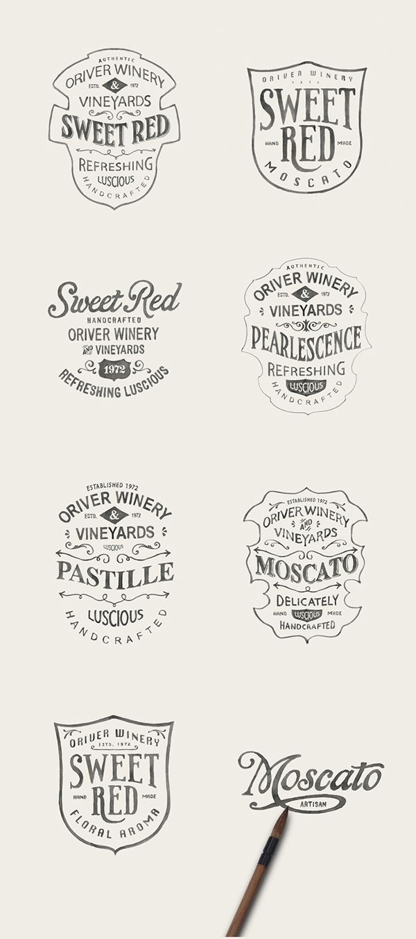Hand lettering handlettering ink type typography graphic design illustration wine label