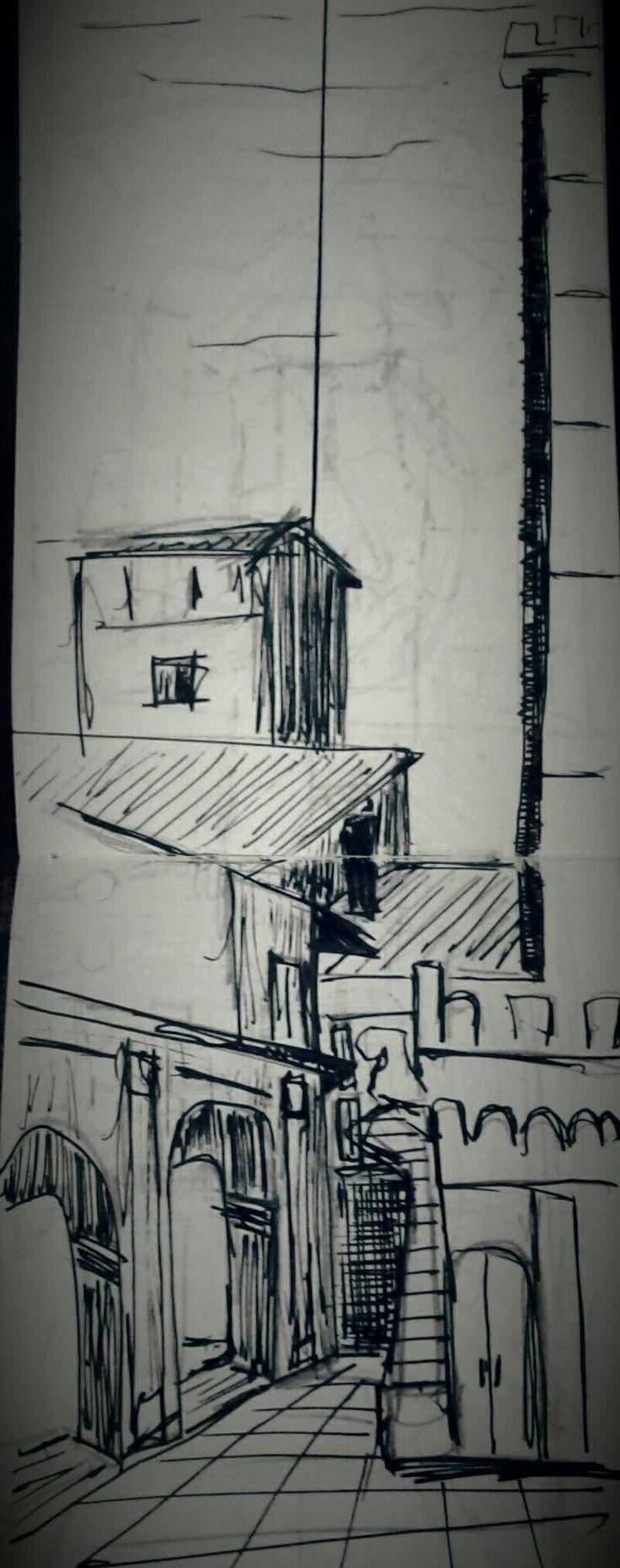 Piazza torri portico