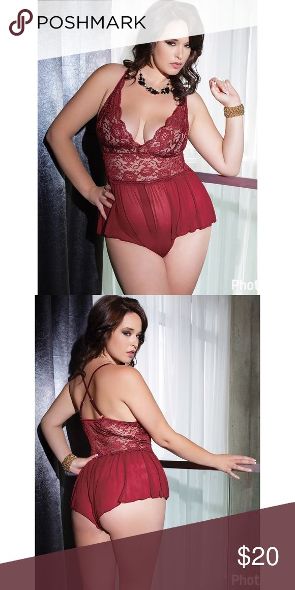 Coquette diva plus size teddy BNWOT Coquette diva plus size teddy BNWOT coquette Intimates & Sleepwear  Explore our amazing collection of plus size lingerie and underwear at http://wholesaleplussize.clothing/