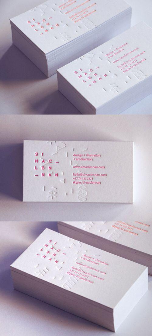 Patterned Business Cards / Tarjetas de visita modeladas