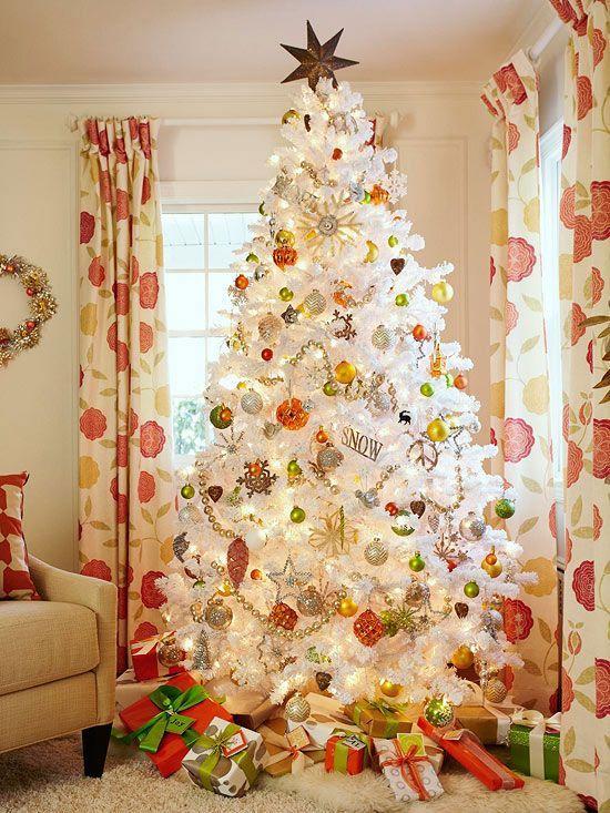 M s de 1000 ideas sobre rboles de navidad blancos en for Decoracion para arboles de navidad blancos