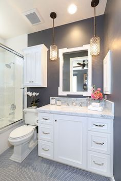 How To Make A Small Bathroom Look Bigger   Tips And Ideas. Possible Color  Schemes ...