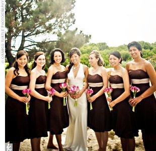 Brown Bridesmaid Dresses Dressescream Bridesmaidschocolate