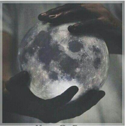 Moon in hands