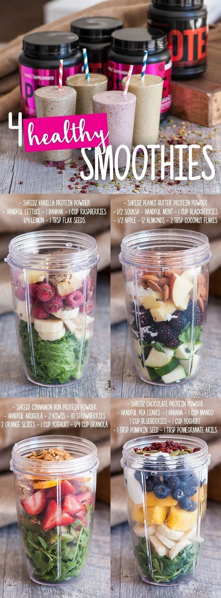4 yummy and healthy smoothies