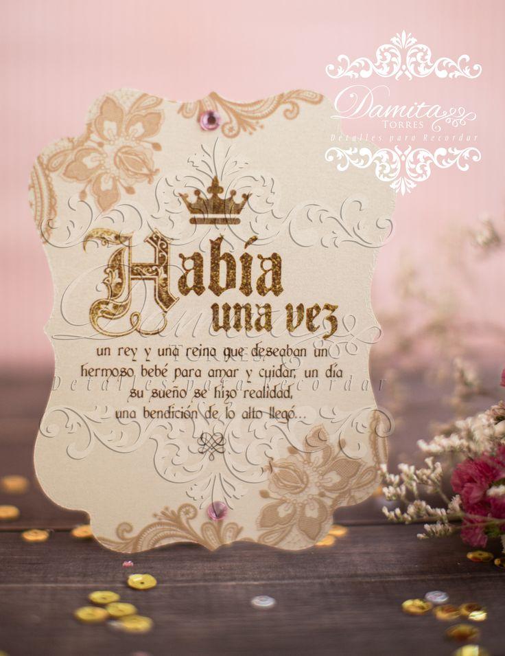 Invitation princess, invitation baby, invitation one year