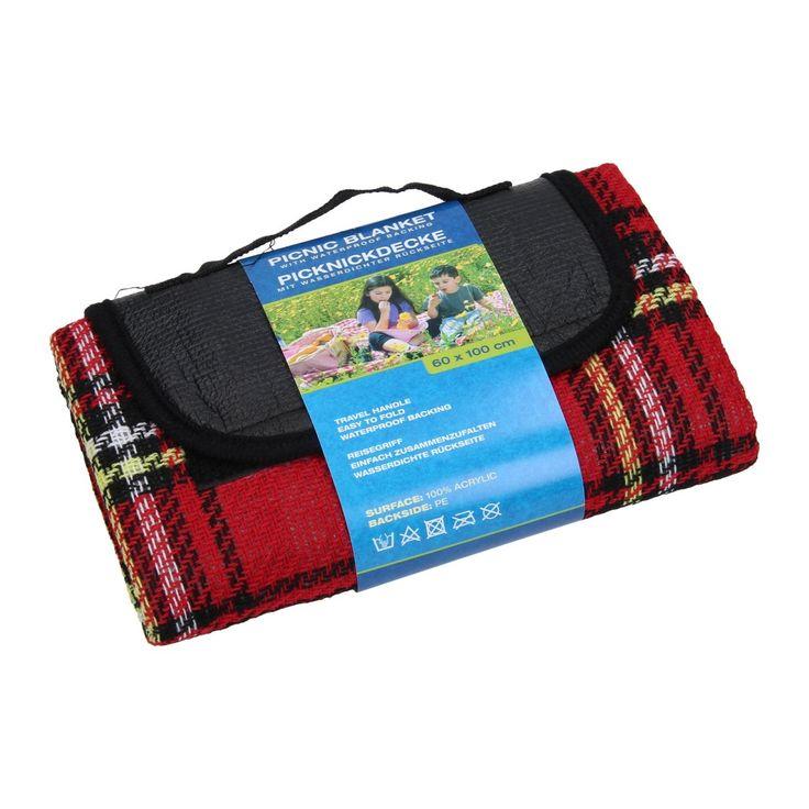 Picknickdeken Waterdicht - Rood Afmetingen: 100 x 60cm - Picknickdeken Waterdicht - Rood