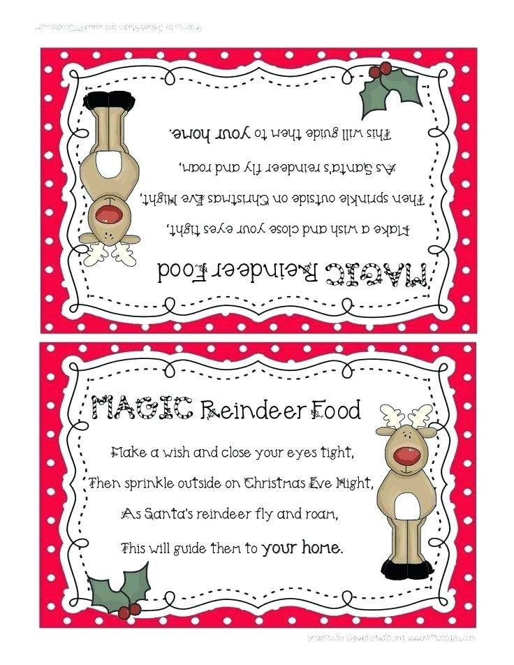 reindeer food labels printable printable magic reindeer