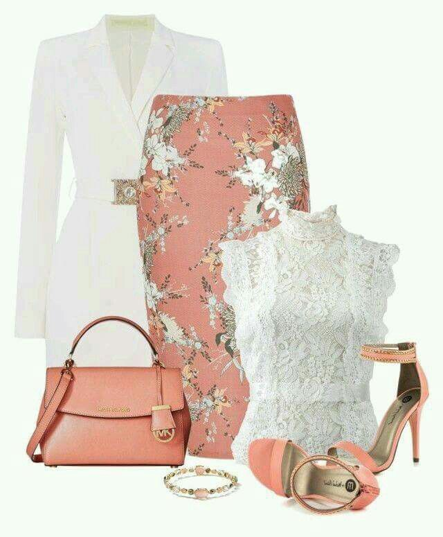 Pink and White Outfit