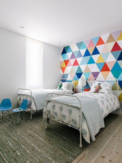 21 Creative Accent Wall Ideas For Trendy Kidsu0027 Bedrooms. Kids Room  WallpaperBedroom Wallpaper DesignsGeometric ...