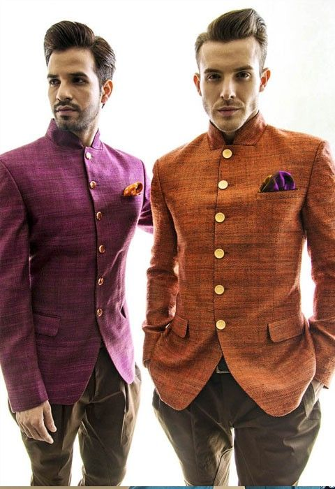 Bandhgalas are very traditional wear India. Bandhgalas is a western style suit product, with a coat and a trouser. http://puneetandnidhi.com/bandhgalaconcepts/