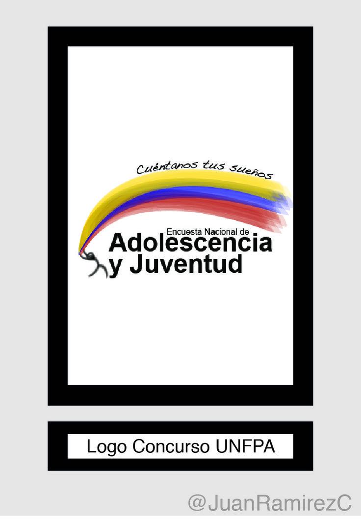 Logo para concurso de UNFPA para la Encuesta Nacional de Adolescencia y Juventud 2013-2014