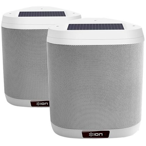 "ION - 4"" Powered Wireless 2-Way Outdoor Speakers (Pair) - White"