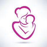 Mother And Baby Symbol Royalty Free Stock Photography - Image: 24140697