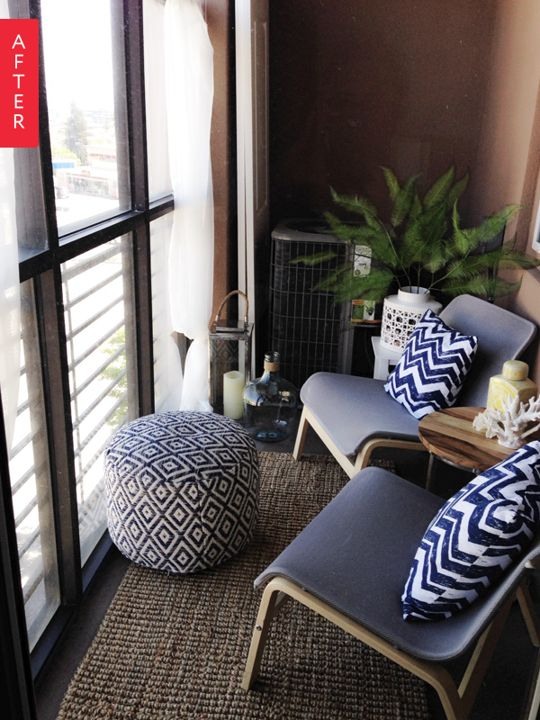 before after blank balcony to stylish sanctuary for 200 - Ikea Design Ideas